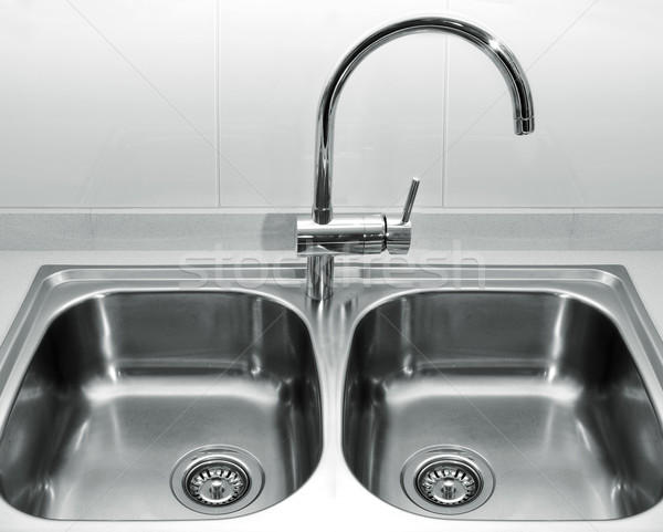 stainless steel kitchen sink Stock photo © nito