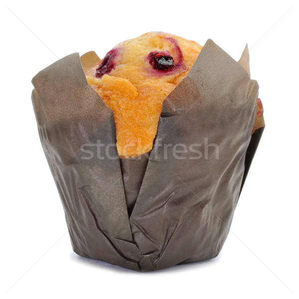 Groseille muffin blanche alimentaire fond Photo stock © nito