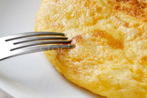 Tortilla spagnolo primo piano piatto tipico set Foto d'archivio © nito