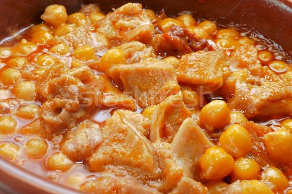 Spaans typisch stoven rundvlees voedsel restaurant Stockfoto © nito