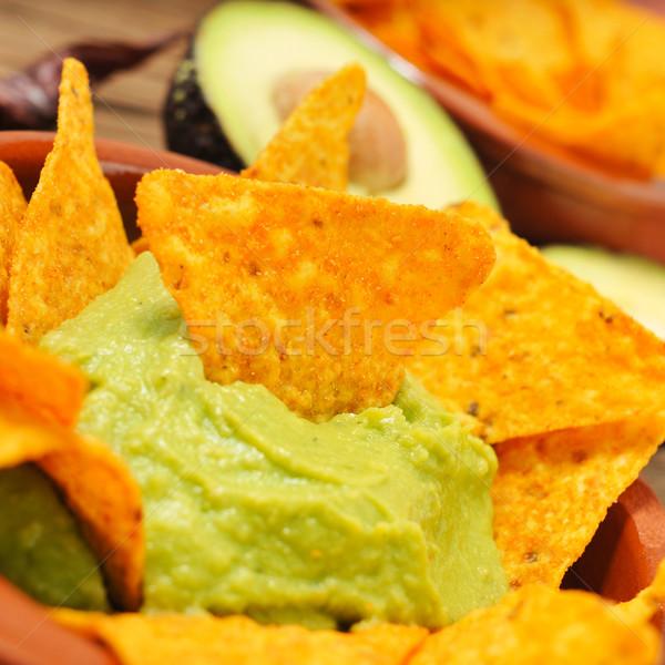 Nachos comida restaurante alimentação Foto stock © nito