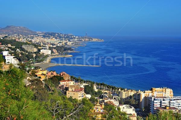 Aerial view of northern coastline of Malaga, Spain Stock photo © nito