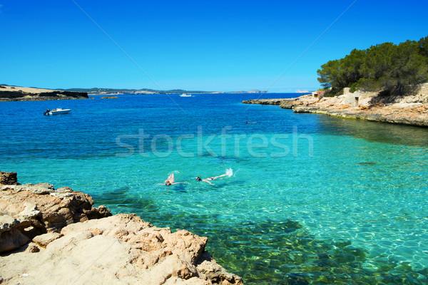 Cala Gracioneta beach in Ibiza Island, Spain Stock photo © nito
