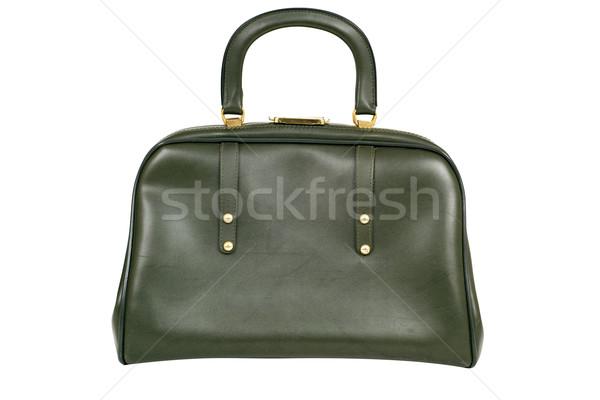 old green leatherette purse Stock photo © nito