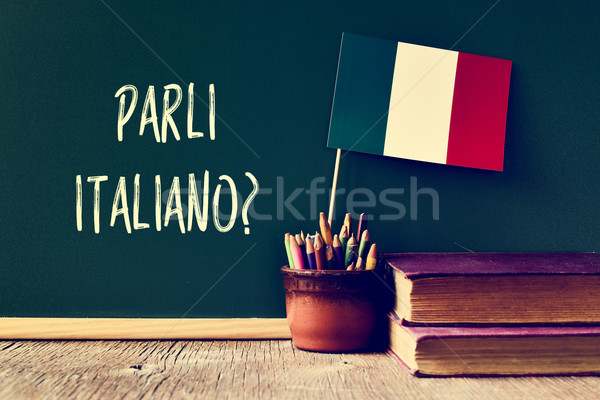 Stock photo: question parli italiano? do you speak Italian?