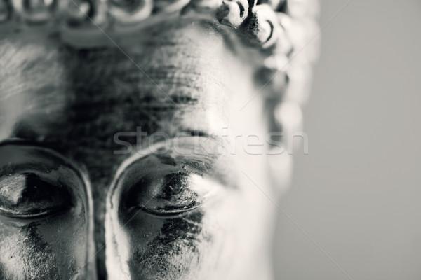 Buda pormenor cara projeto preto e branco Foto stock © nito