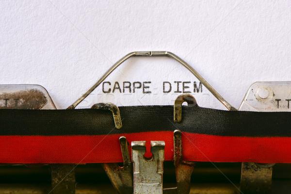 typewriter and text carpe diem Stock photo © nito