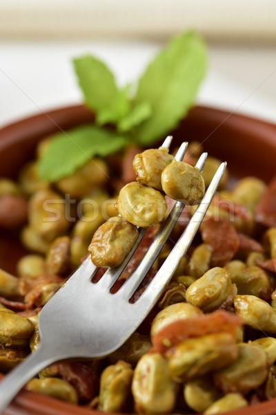 Spaans boon stoven serrano ham Stockfoto © nito
