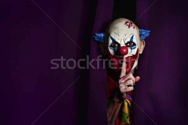 Miedo mal payaso silencio fuera Foto stock © nito