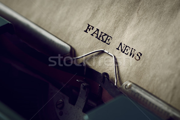 text fake news written with a typewriter Stock photo © nito