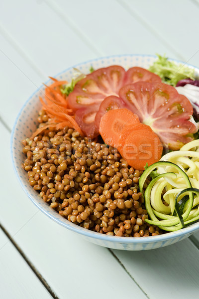 buddha bowl on a pale green table Stock photo © nito