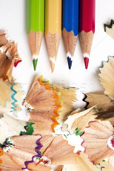 Kalem boya kalemleri farklı renkler görmek Stok fotoğraf © nito