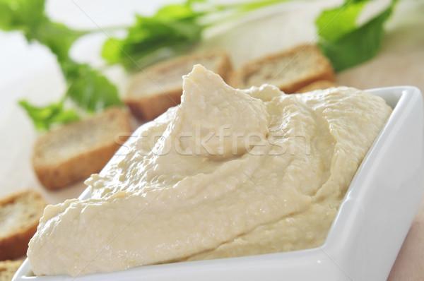 Közelkép tál étvágygerjesztő étel bár görög Stock fotó © nito