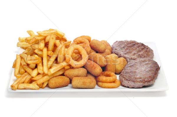 Taca tuczący żywności biały Zdjęcia stock © nito