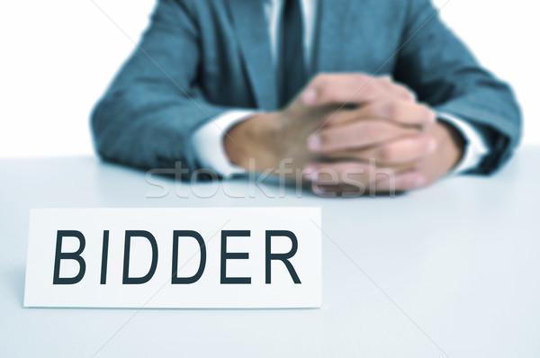 bidder Stock photo © nito