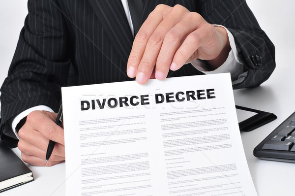 lawyer showing a divorce decree Stock photo © nito