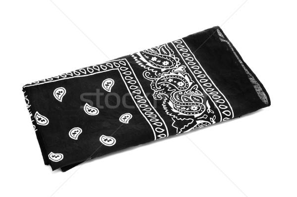 черный носовой платок белый моде голову Сток-фото © nito