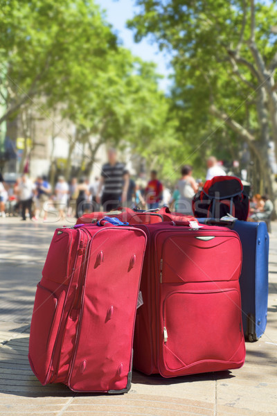 baggages at Las Ramblas in Barcelona, Spain Stock photo © nito