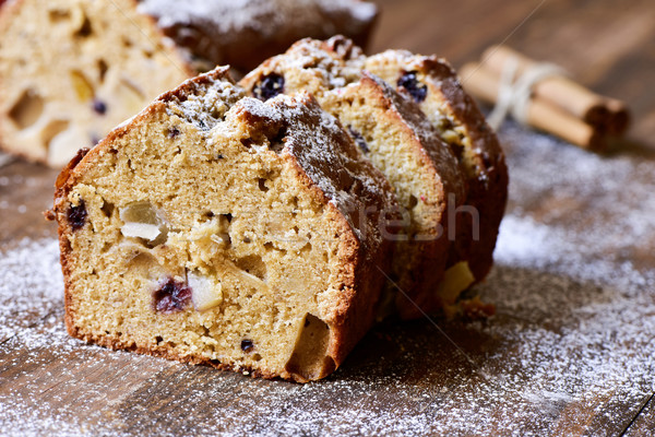 Stock photo: fruitcake for christmas time