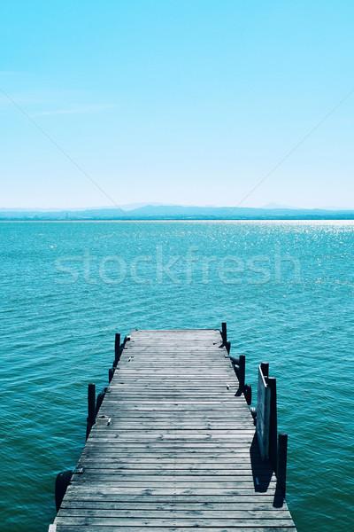 dock in the lagoon of the Albufera in Valencia, Spain Stock photo © nito