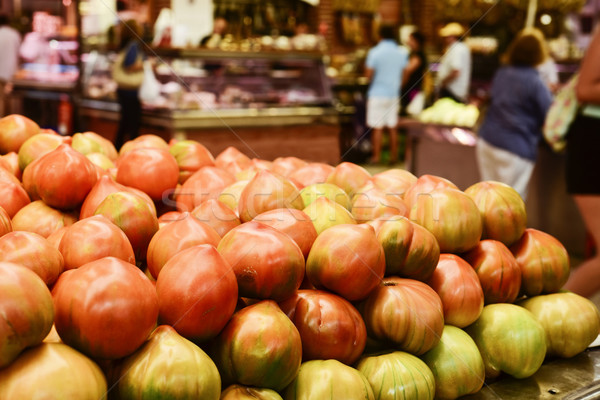 tomatoes on sale in a public market Stock photo © nito