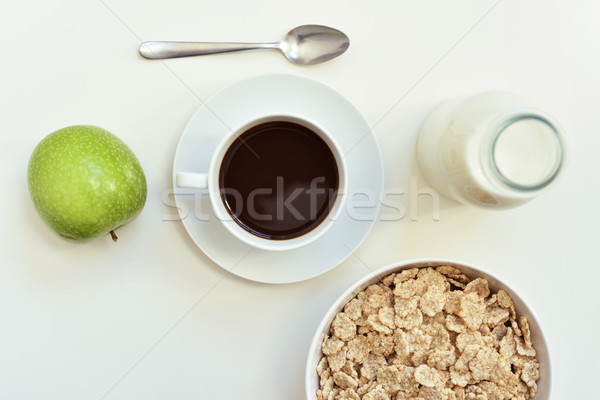 apple, coffee and cereals Stock photo © nito