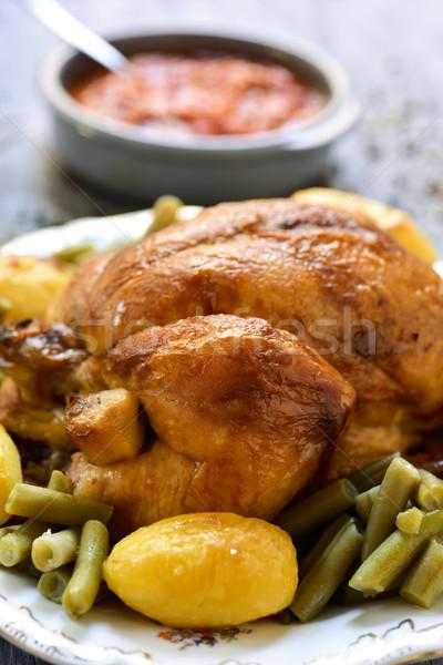 Foto d'archivio: Turchia · patate · francese · fagioli · primo · piano · servito