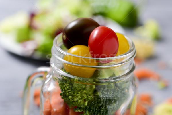mason jar salad Stock photo © nito