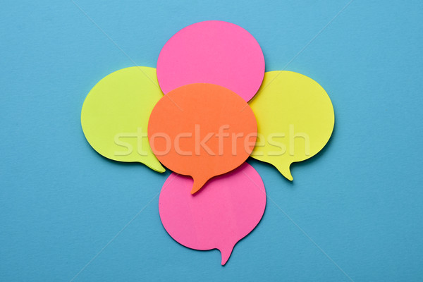 sticky notes in the shape of speech balloons Stock photo © nito