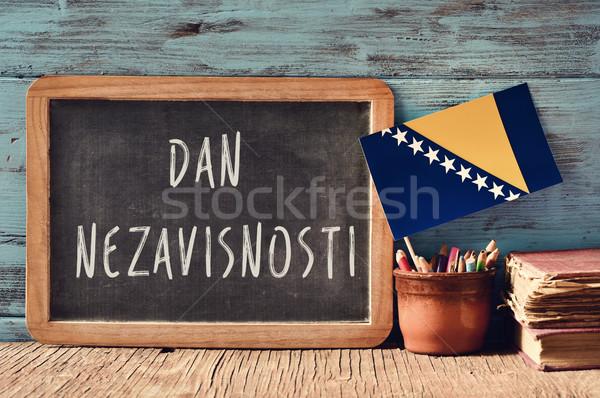 Día Bosnia Herzegovina pizarra texto escrito olla Foto stock © nito