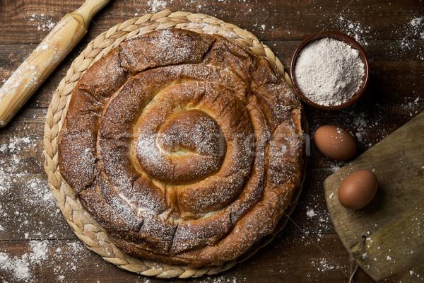 ensaimada, a pastry typical of Mallorca, Spain Stock photo © nito