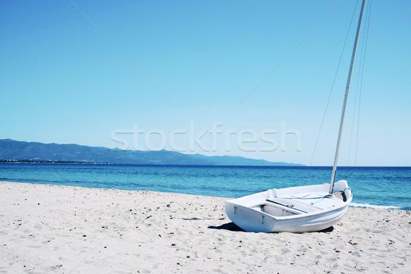 Spiaggia del Poetto beach in Sardinia, Italy Stock photo © nito