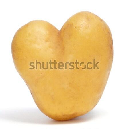 Aardappel ruw witte voedsel liefde Stockfoto © nito