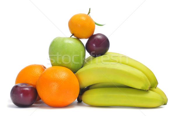 Stock fotó: Különböző · gyümölcsök · közelkép · köteg · almák · narancsok