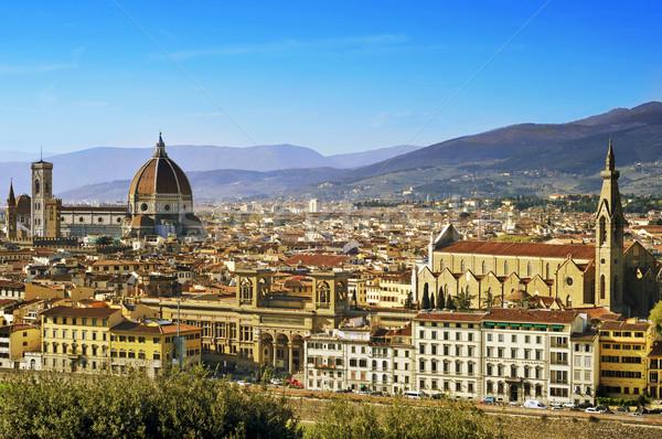 Florence Olaszország légifelvétel bazilika mikulás város Stock fotó © nito
