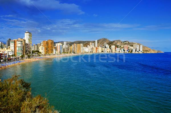 ビーチ スペイン 市 砂 リラックス ストックフォト © nito
