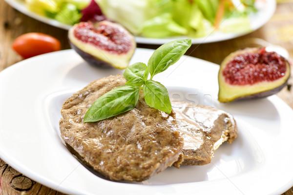 veggie cordon bleu and salad Stock photo © nito