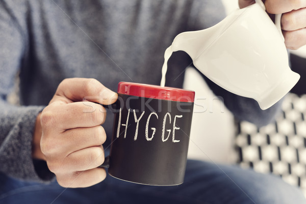 hygge, danish word for comfort or enjoy Stock photo © nito