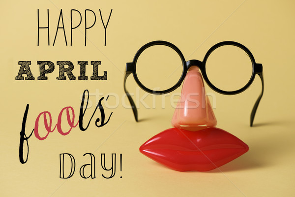 novelty glasses and text happy april fools day Stock photo © nito