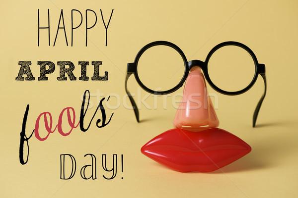Nowość okulary tekst szczęśliwy dzień pary Zdjęcia stock © nito