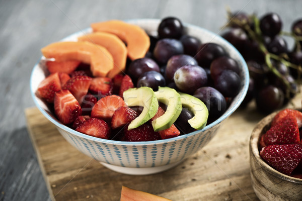 fruit salad in a ceramic bowl Stock photo © nito