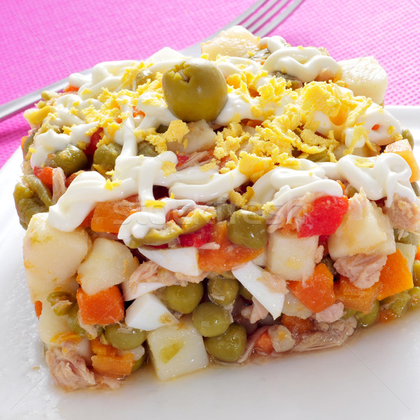 ensaladilla rusa, spanish russian salad Stock photo © nito