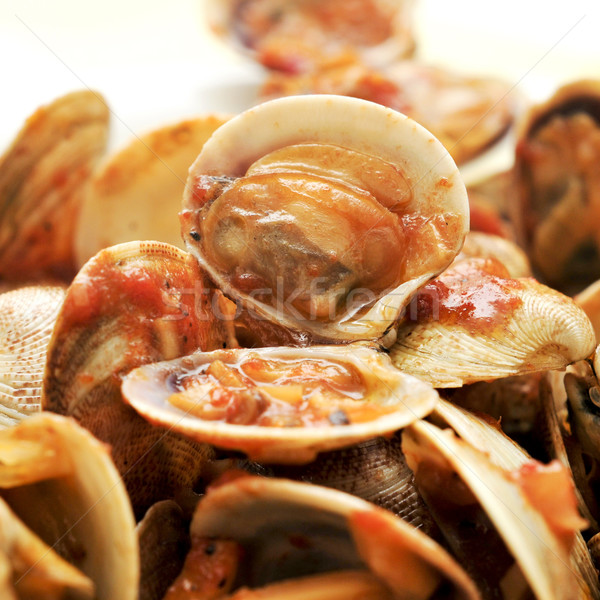 clams in marinara sauce Stock photo © nito