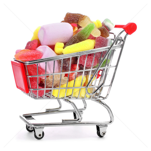 shopping cart full of candies Stock photo © nito