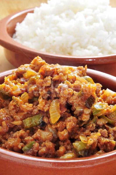 picadillo, traditional dish in many latin american countries, wi Stock photo © nito
