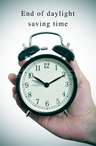 end of daylight saving time Stock photo © nito