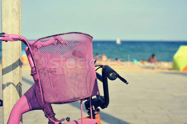 bicycles in the beach, with a filter effect Stock photo © nito