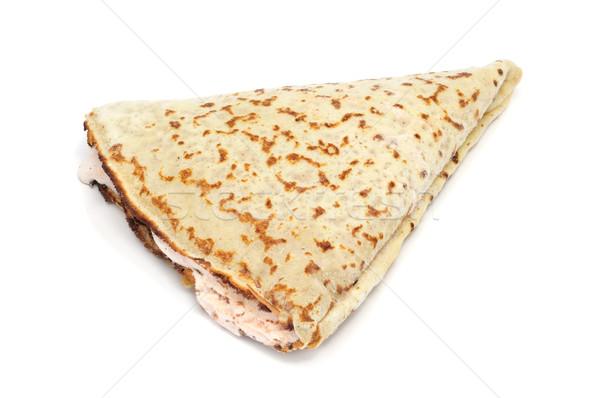 Ripieno crepe bianco alimentare sfondo colazione Foto d'archivio © nito