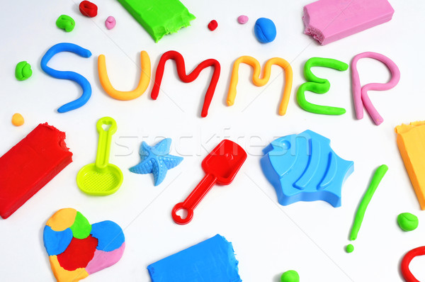 text summer made from modelling clay Stock photo © nito