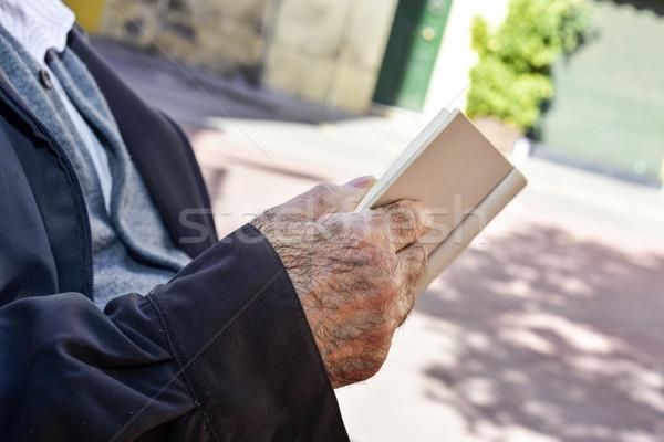 Alte Lesung Buch alten Stock foto © nito
